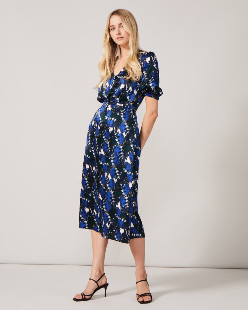 Phoebe Grace Noora Dress in Blue Leaf