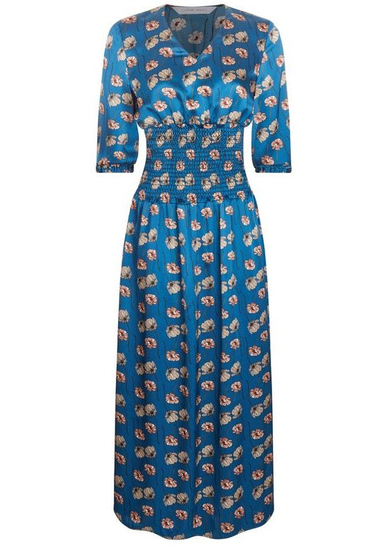 Phoebe Grace Tinker Dress In Blue Poppy