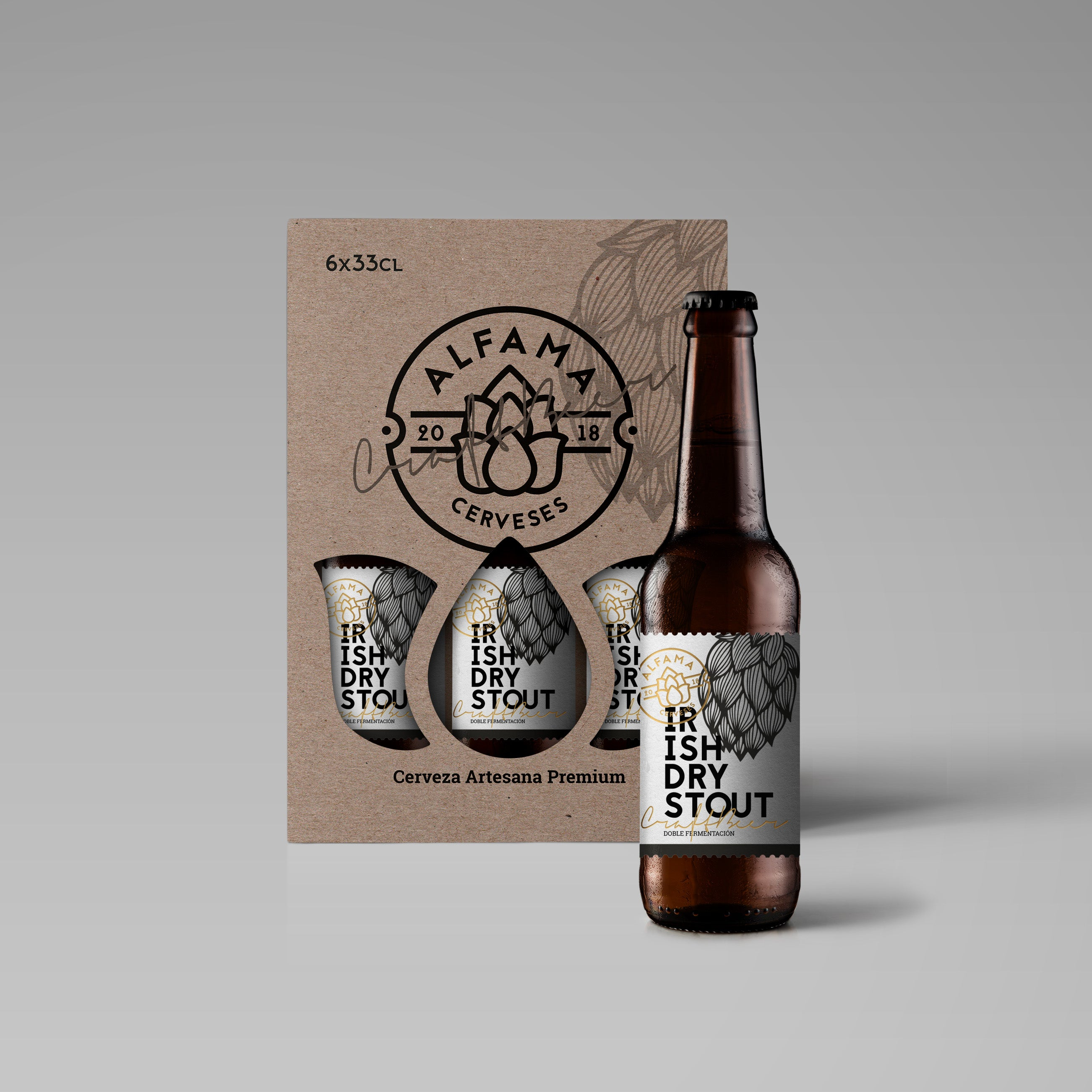 Alfama Irish Dry Stout CAJA 6 BOTELLAS