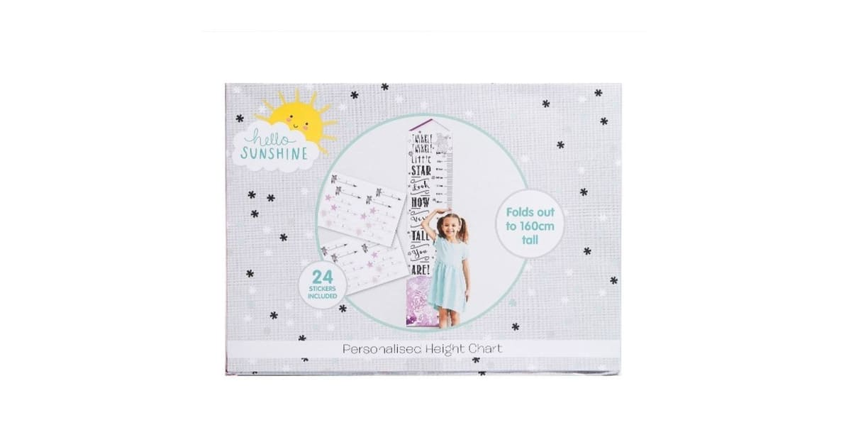 HELLO SUN SHINE HEIGHT CHART | Toyworld Frankston | Toyworld Frankston