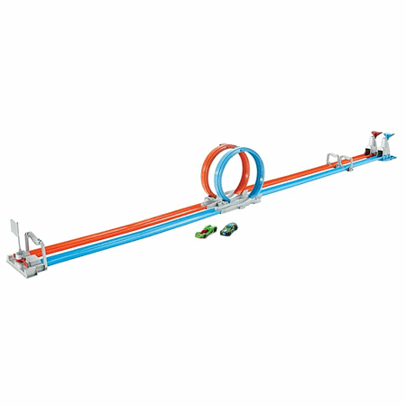 HOT WHEELS DOUBLE LOOP DASH TRACK SET