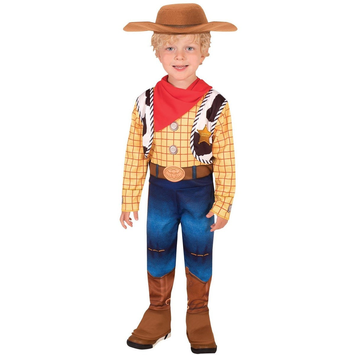TOY STORY 4 WOODY DELUXE COSTUME SIZE 3-5