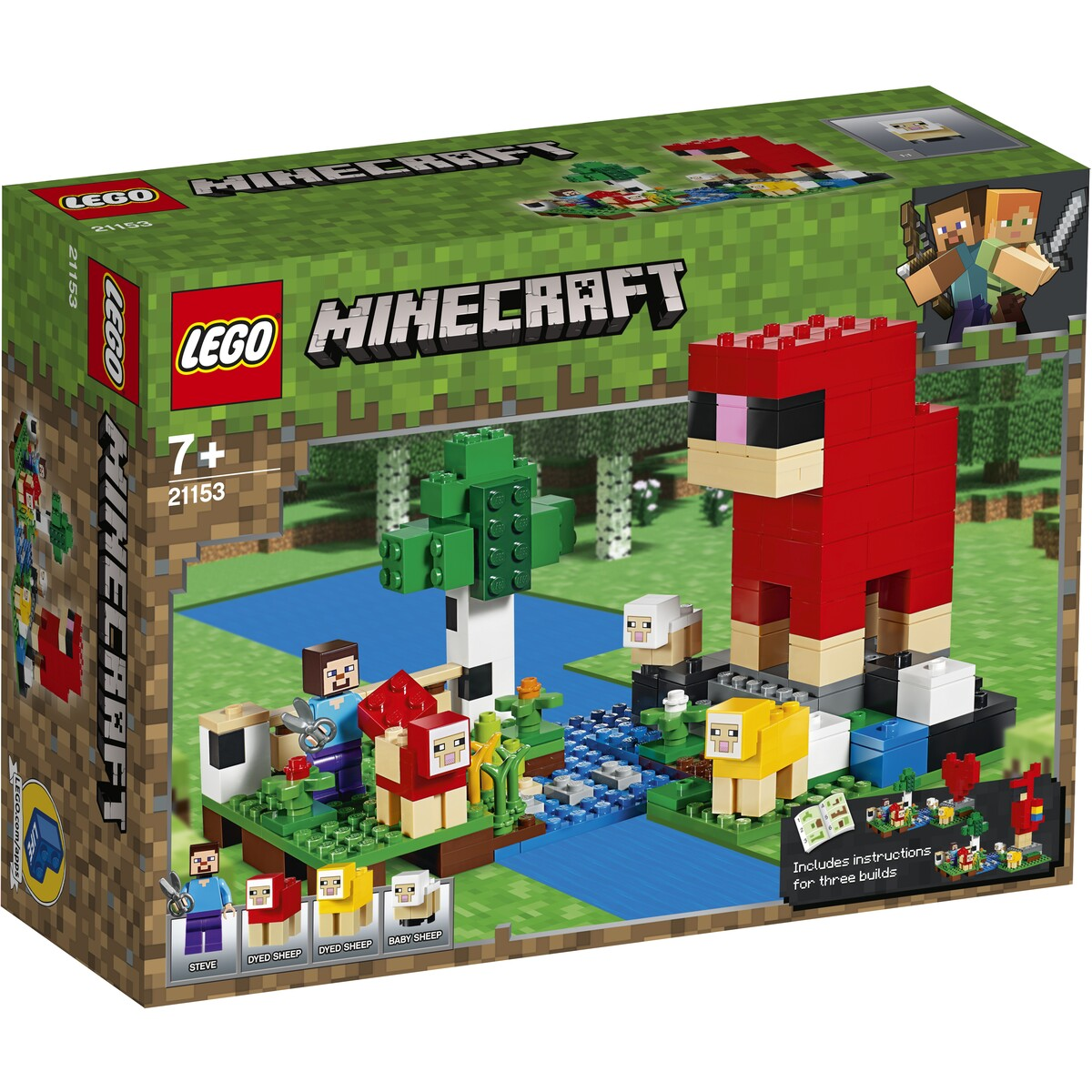 LEGO MINECRAFT 21153 - THE WOOL FARM | LEGO | Toyworld Frankston
