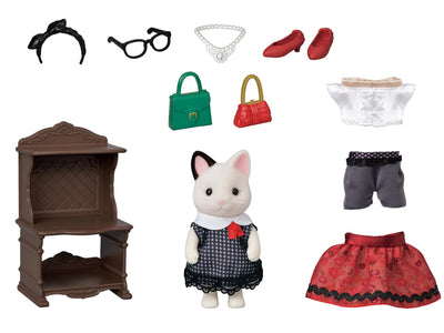 SYLVANIAN FAMILIES FASHION PLAY SET TUXEDO CAT