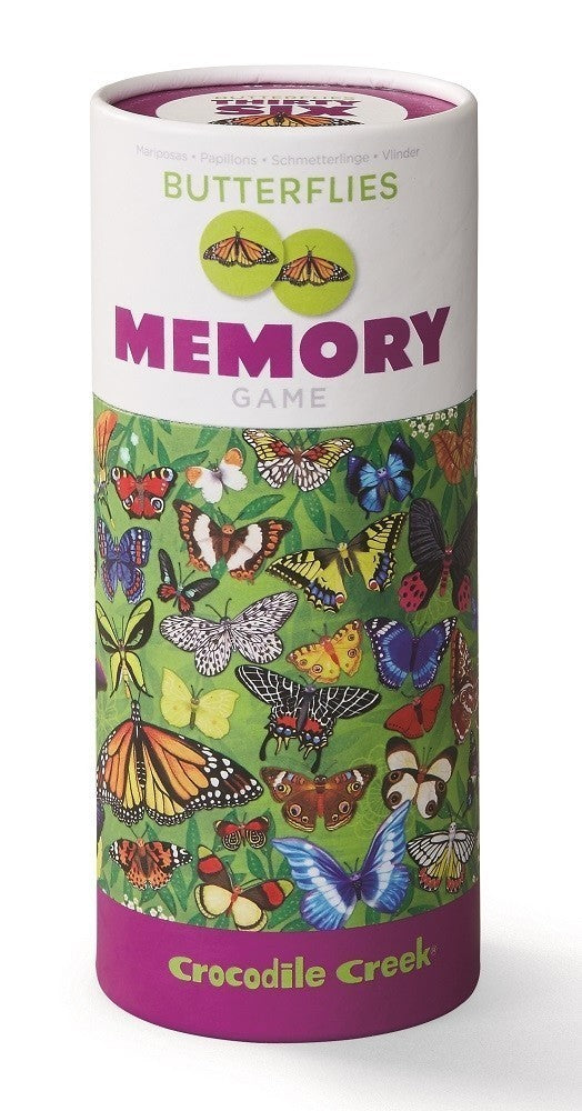 MEMORY GAME CAN - BUTTERFLIES