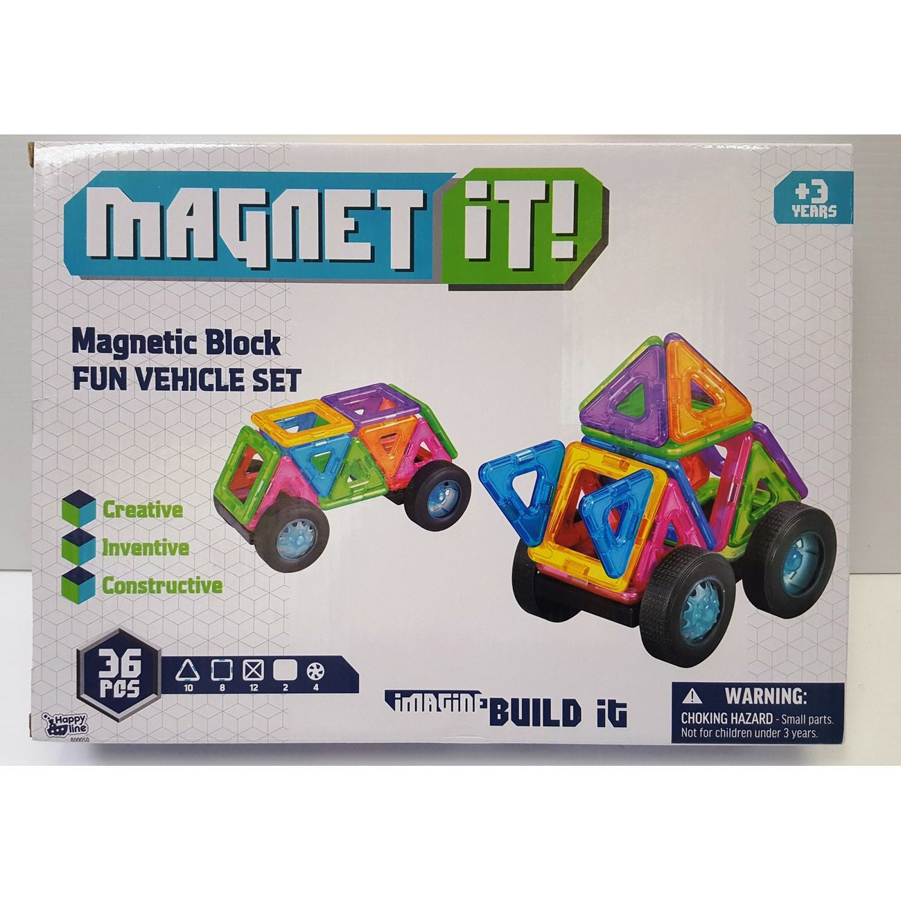 MAGNET IT SET 36PC VEHICLES