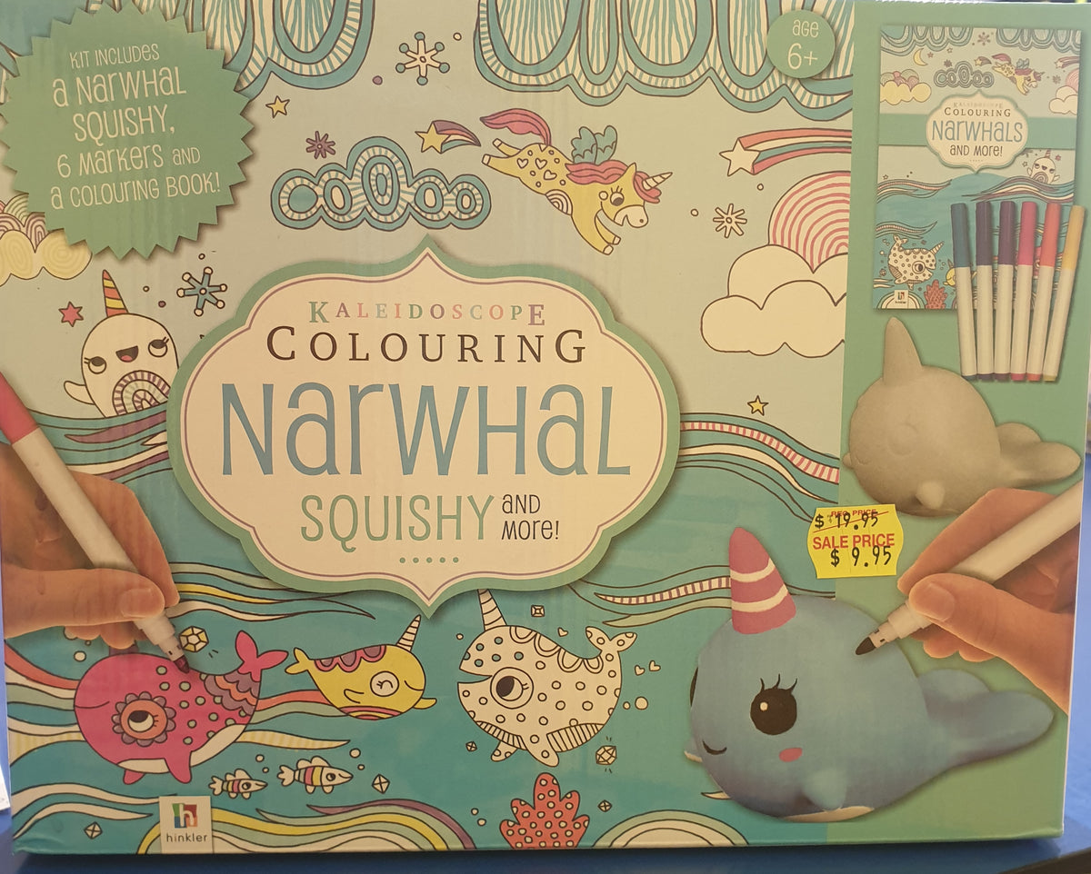 KALEIDOSCOPE COLOURING NARWHAL SQUISHY AND MORE | Toyworld Frankston | Toyworld Frankston