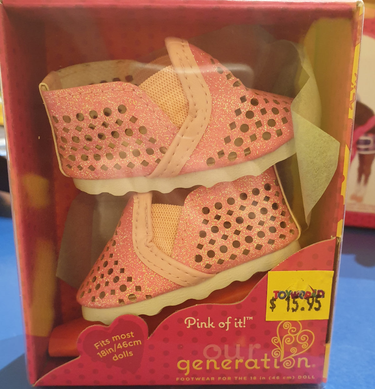 OUR GENERATION 18INCH DOLL SHOES PINK OF IT | OUR GENERATION | Toyworld Frankston