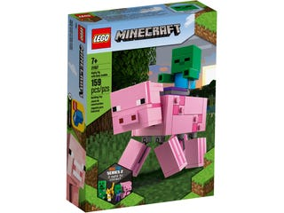 LEGO 21157 MINECRAFT BIGFIG PIG WITH BABY ZOMBIE | Toyworld Frankston | Toyworld Frankston