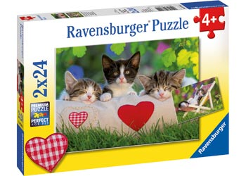 RBURG SLEEPY KITTENS 2X24PC | RAVENSBURGER | Toyworld Frankston