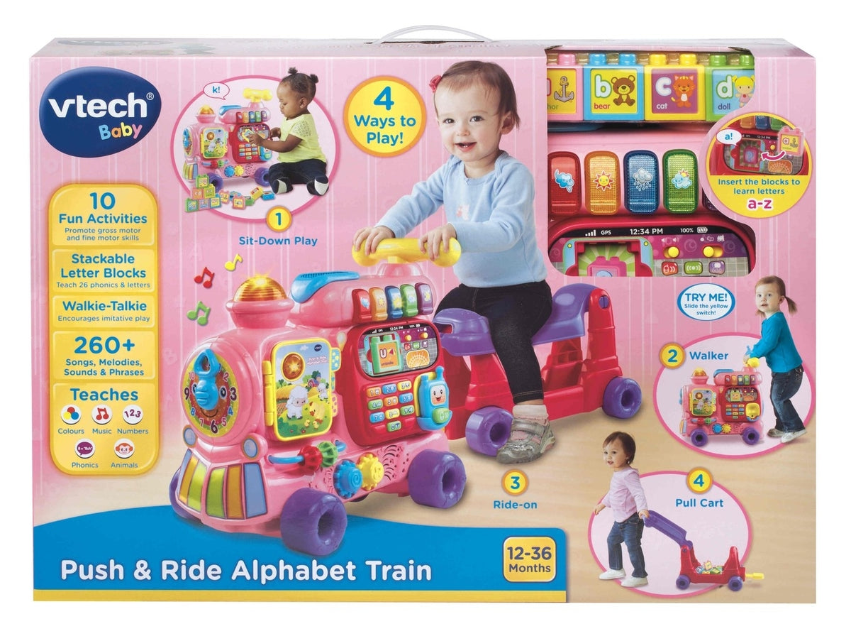 VTECH PUSH&RIDE ALPHABETTRAINPINK | VTECH | Toyworld Frankston