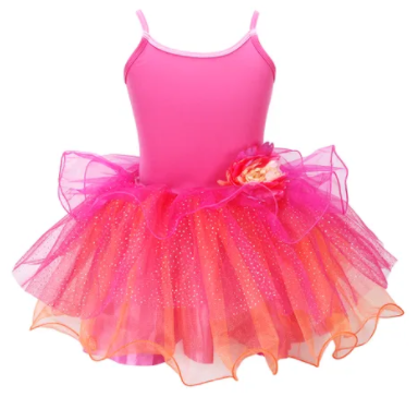BLOOM FAIRY DRESS SIZE 3/4 HOT PINK