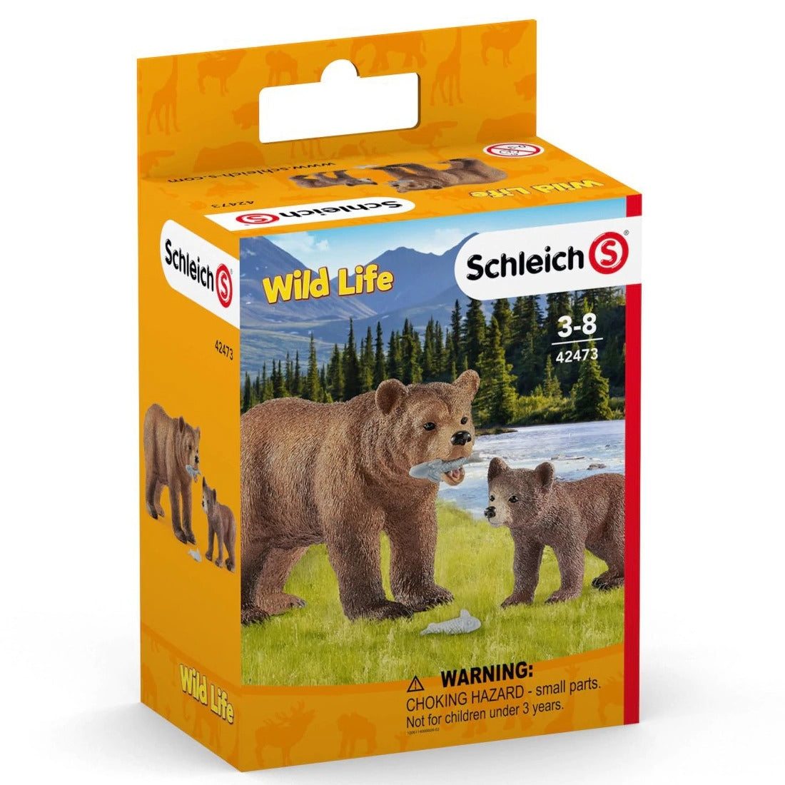 SCHLEICH-GRIZZLY BEAR MOTHER WITH CUB