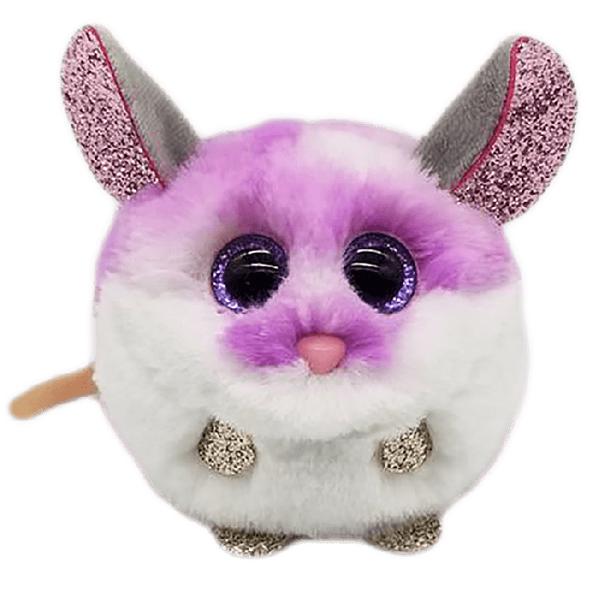 TY PUFFIES COLBY PURPLE MOUSE