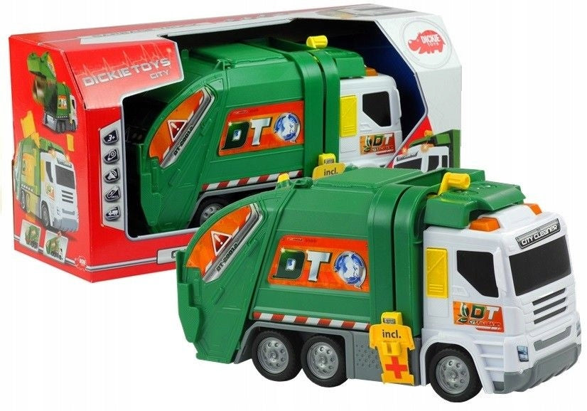 DICKIE TOYS 30CM LIGHT/SOUND GARBAGE TRUCK