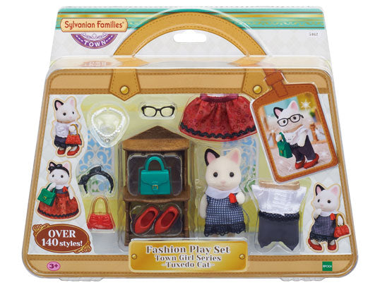 SYLVANIAN FAMILIES FASHION PLAY SET TUXEDO CAT | Toyworld Frankston | Toyworld Frankston