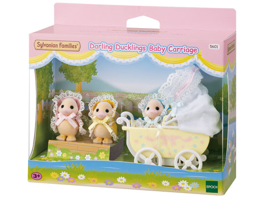 SYLVANIAN FAMILIES DARLING DUCKLINGS BABY CARRIAGE