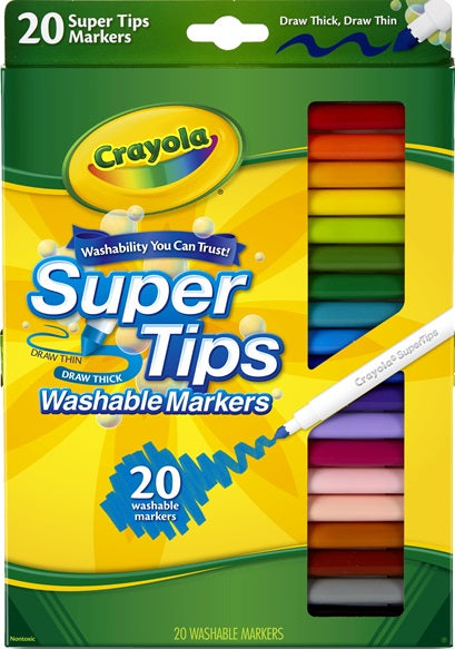 20 SUPERTIPS MARKERS MEDIUM TIP | Toyworld Frankston | Toyworld Frankston