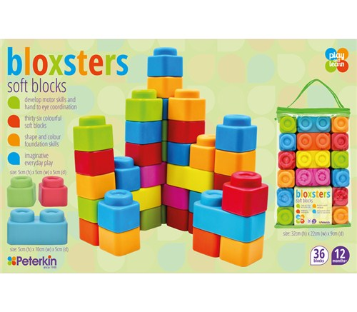 PLAY AND LEARN BLOXSTERS SOFT BLOCKS