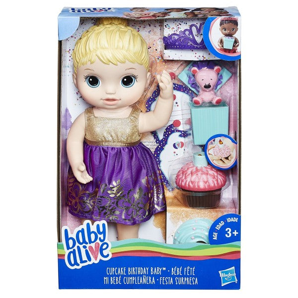BABY ALIVE CUPCAKE BIRTHDAY BABY - BLONDE | BABY ALIVE | Toyworld Frankston