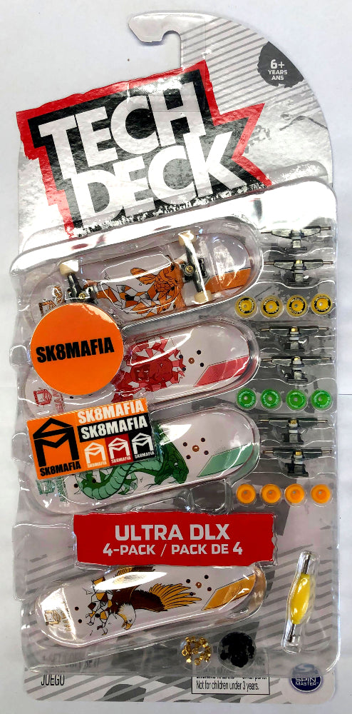 TECH DECK 96MM FINGERBOARD 4 PACK -SK8MAFIA