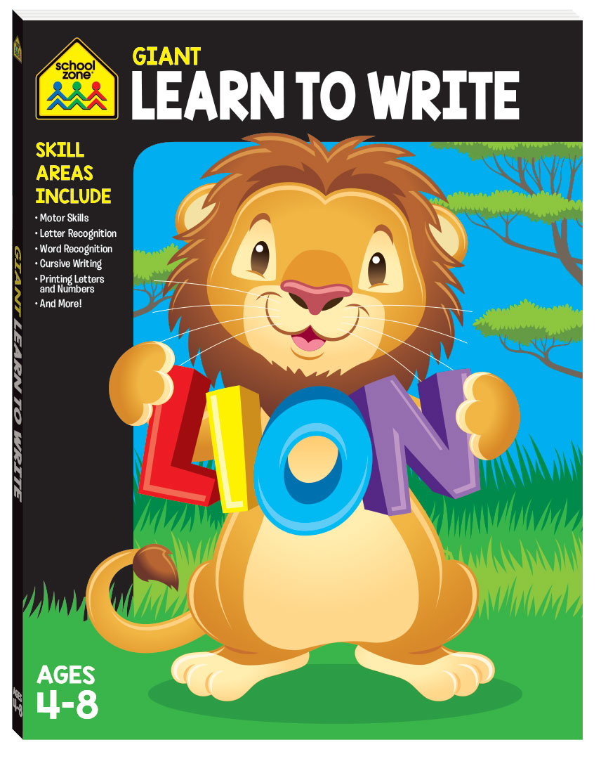SCHOOL ZONE GIANT LEARN TO WRITE