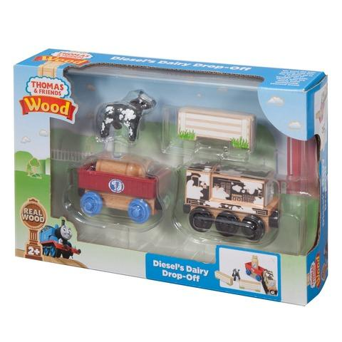 THOMAS & FRIENDS WOODEN RAILWAY ENGINES - DIESELS DAIRY DROP-OFF