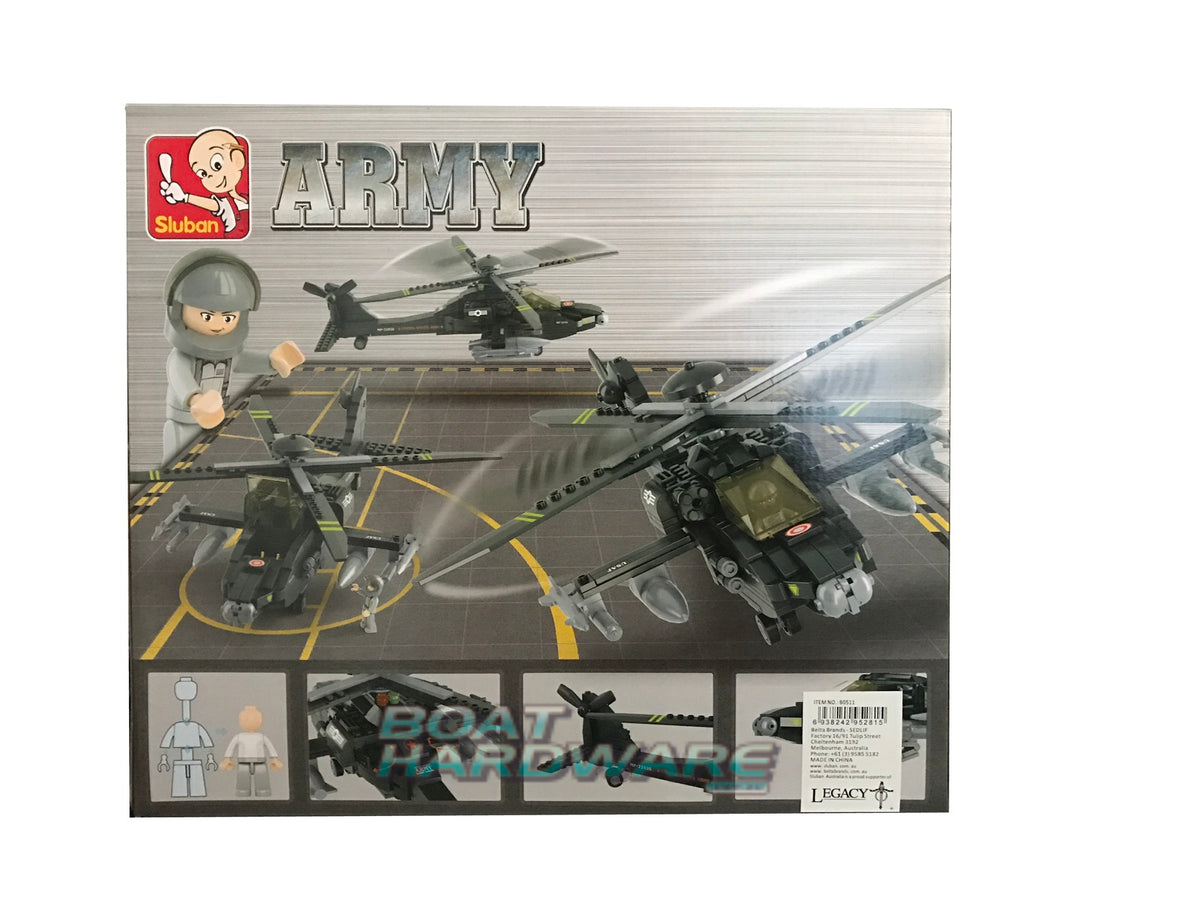 AH-64 APACHE HELICOPTER 293 PCS | Toyworld Frankston | Toyworld Frankston