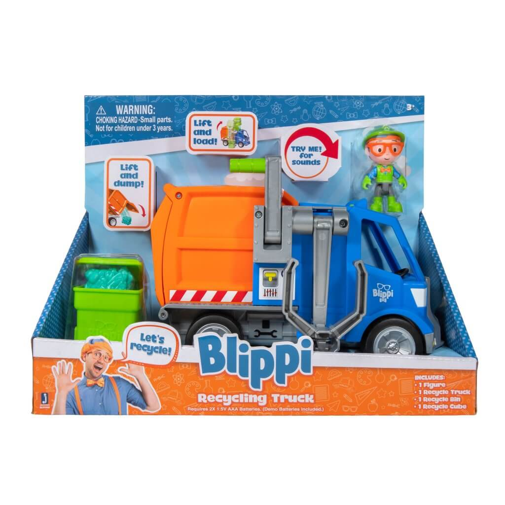 BLIPPI FEATURE VEHICLE RECYCLING TRUCK