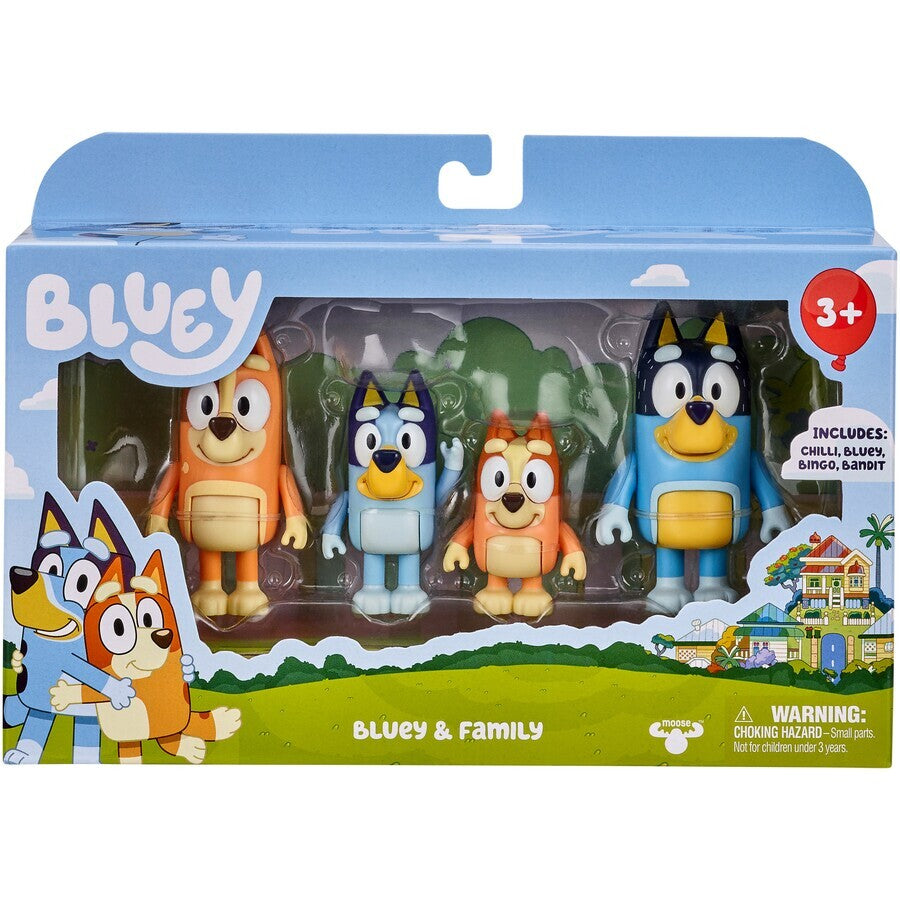 BLUEY FIGURE 4 PACK | Toyworld Frankston | Toyworld Frankston