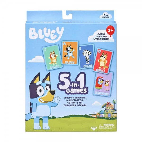 BLUEY 5 IN 1 CARD GAME SET | Toyworld Frankston | Toyworld Frankston