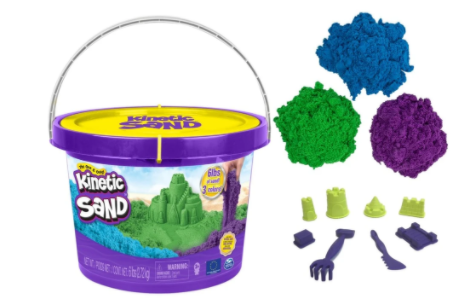KINETIC SAND 6LB X 3 COLOUR BUCKET WITH TOOLS