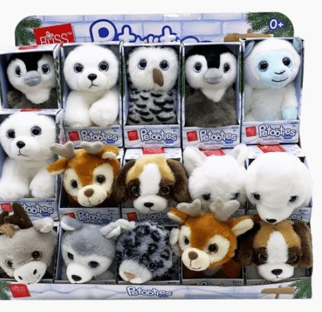 "RUSS PETOOTIES 4"" WINTER MINI PLUSH"