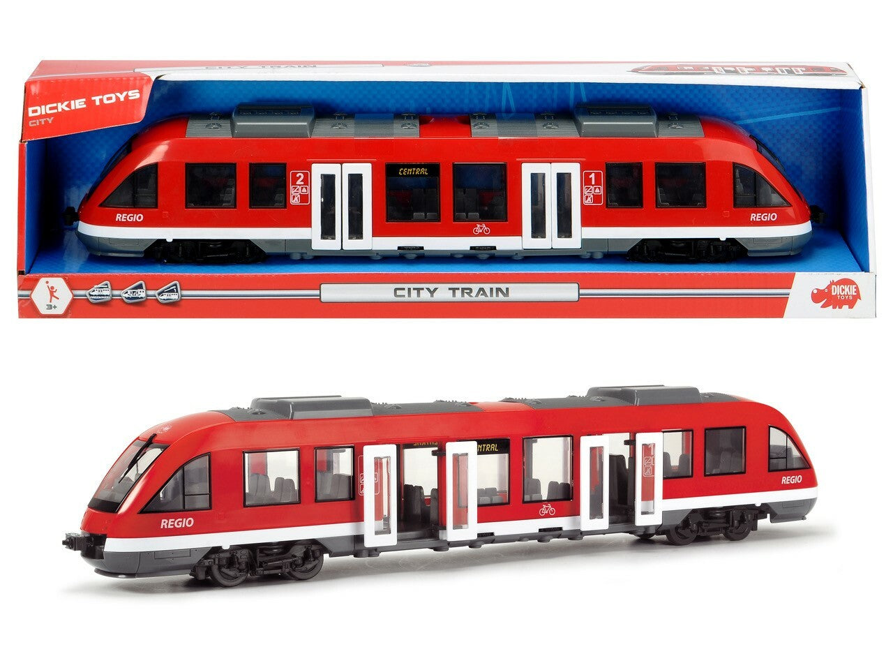 CITY TRAIN 45CM | DICKIE TOYS | Toyworld Frankston