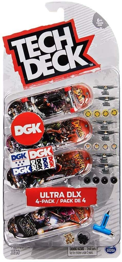 TECH DECK 96MM FINGERBOARD 4 PACK - DGK