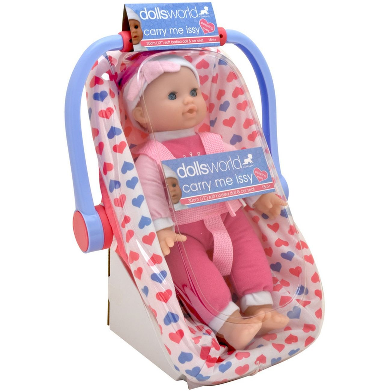 DOLLSWORLD CAR SEAT CARRY ME ISSY 30CM
