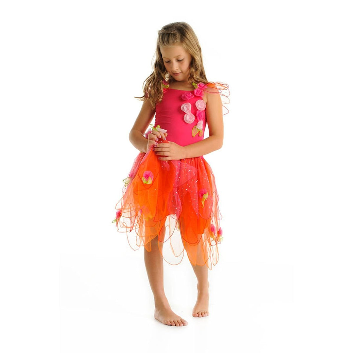 CRYSTAL FAIRY DRESS - HOT PINK MEDIUM