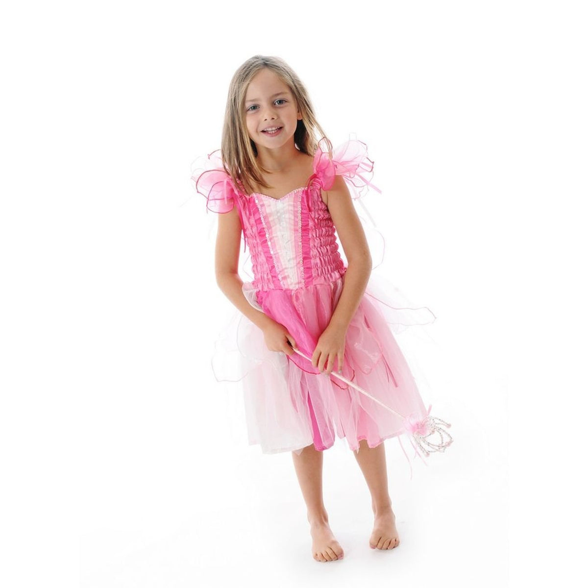 RIBBON FAIRY DRESS - LIGHT PINK MEDIUM