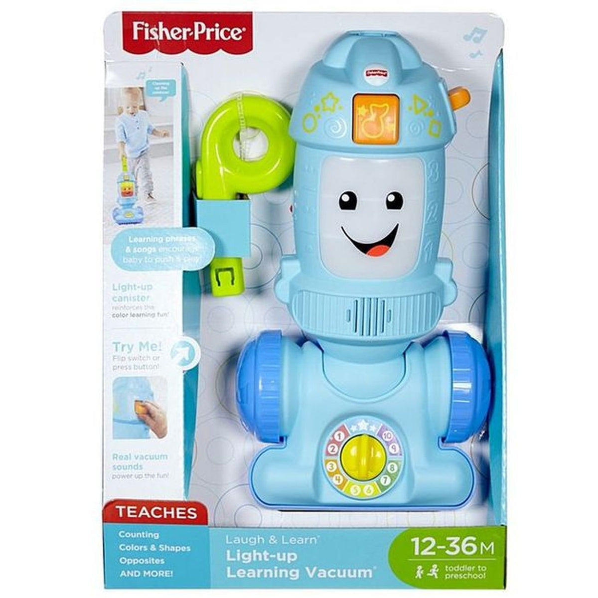 LAUGH & LEARN LIGHT-UP LEARNING VACUUM | FISHER PRICE | Toyworld Frankston