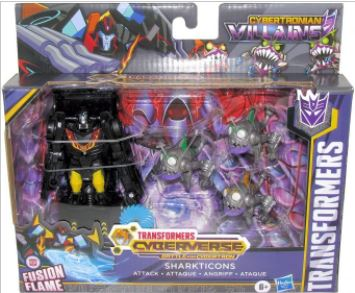 TRANSFORMERS CYBERVERSE SHARKTICONS ATTACK