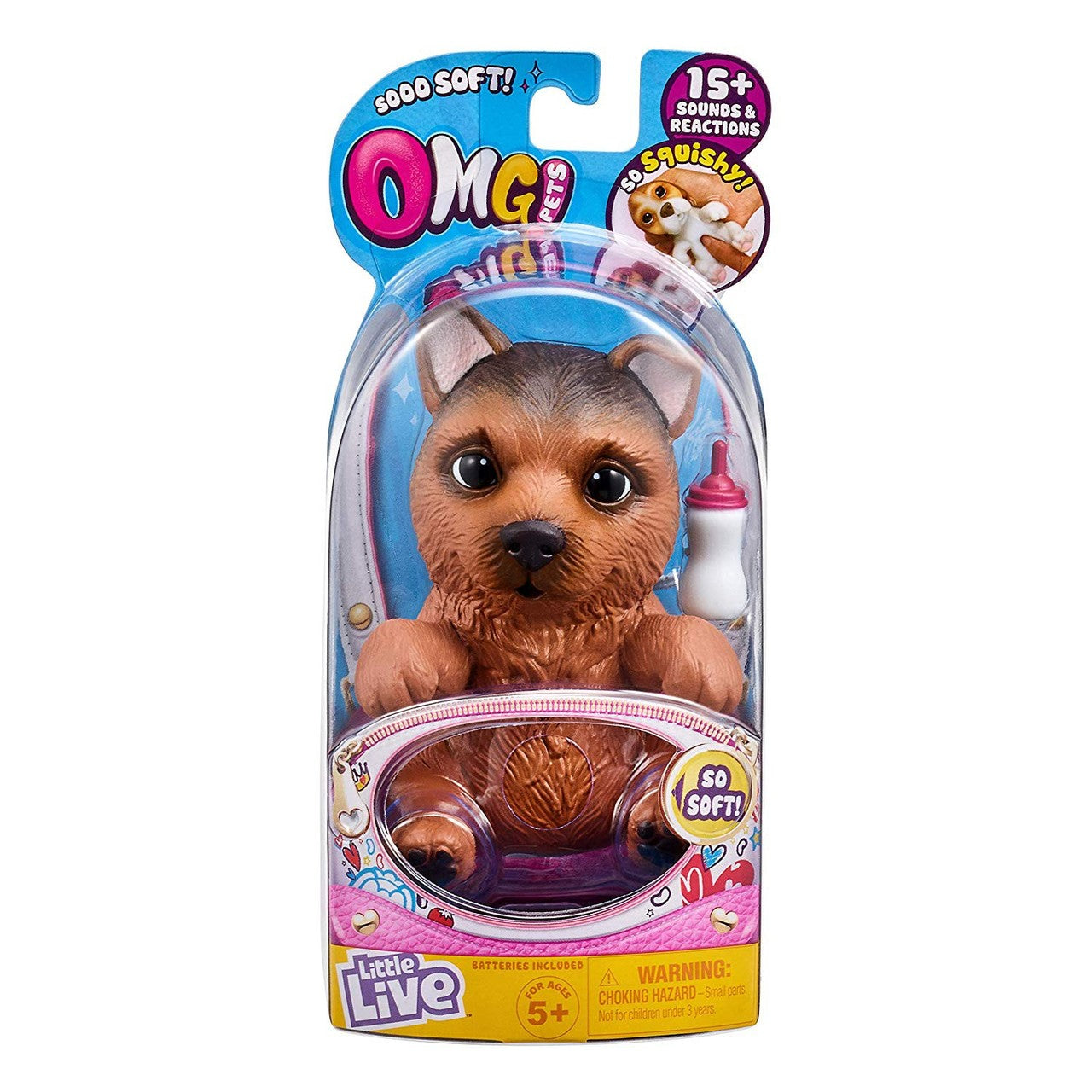 LITTLE LIVE OMG PETS DOGS - BROWN | LITTLE LIVE PETS | Toyworld Frankston