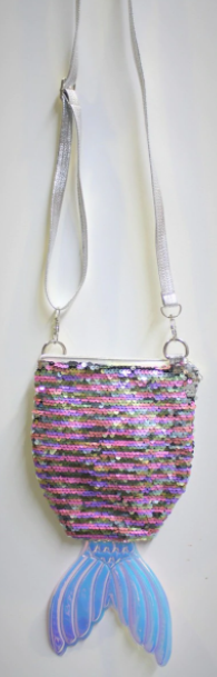 PINK SEQUIN MERMAID TAIL BAG