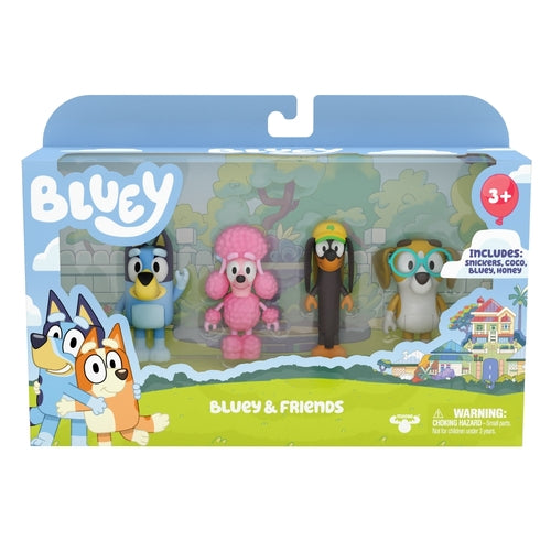 BLUEY 4 PACK - BLUEY AND FREINDS