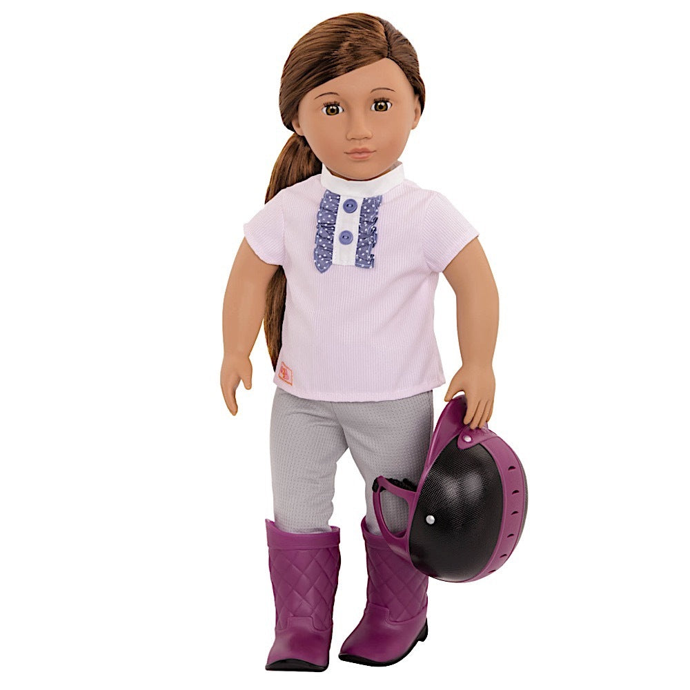 OUR GENERATION DOLL W/ RIDING OUTFIT - ELLIANA BROWN | OUR GENERATION | Toyworld Frankston
