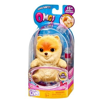 LIVE LIVE OMG PETS DOG - CREAM | LITTLE LIVE PETS | Toyworld Frankston