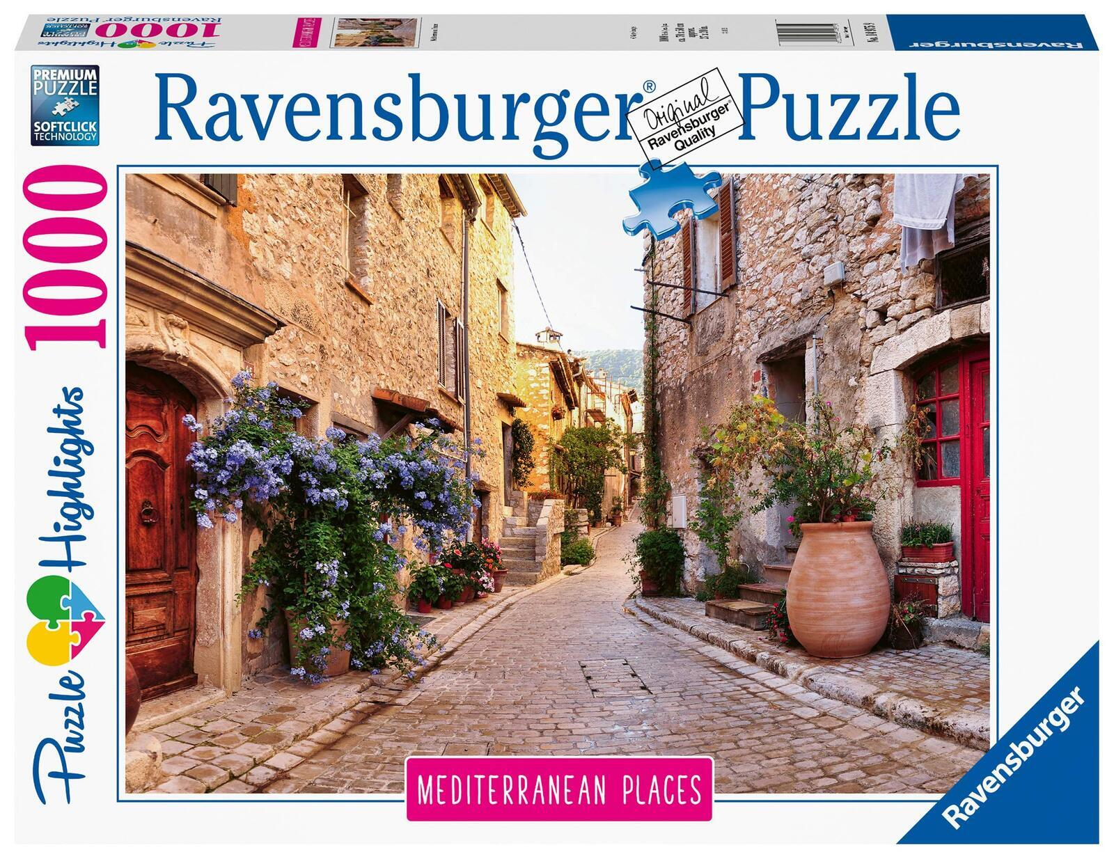 RAVENSBURGER MEDITERRANEAN FRANCE 1000PC