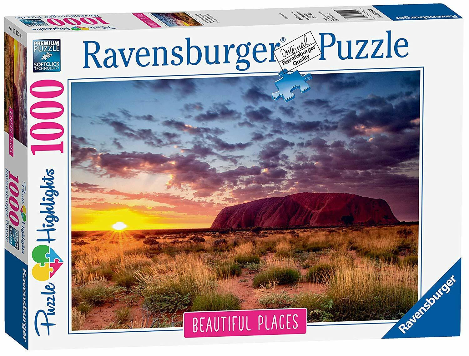 RAVENSBURGER - AYERS ROCK - AUSTRALIA PUZZLE 1000PC | RAVENSBURGER | Toyworld Frankston