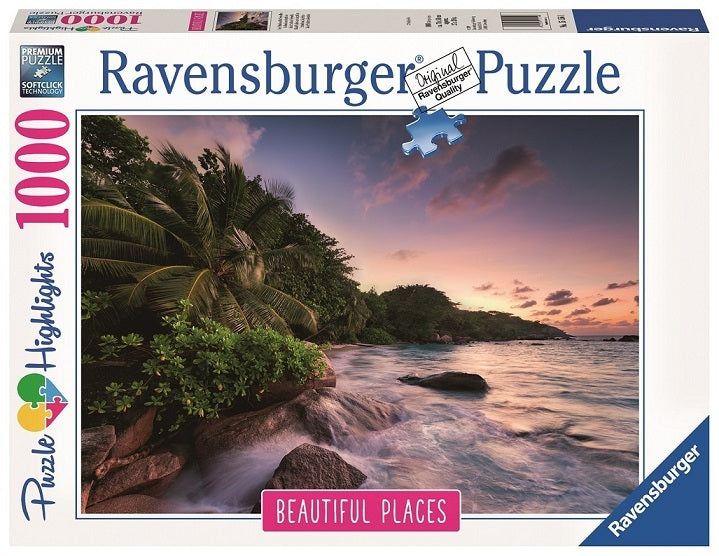 RAVENSBURGER - PRASLIN ISLAND - SEYCHELLES1000PC | RAVENSBURGER | Toyworld Frankston