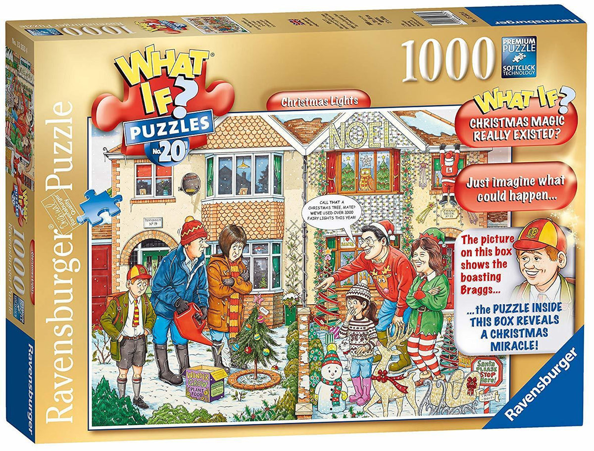 RAVENSBURGER - WHAT IF NO 20 CHRISTMAS LIGHTS 1000PC | RAVENSBURGER | Toyworld Frankston