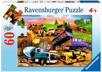RBURG - CONSTRUCTION CROWD PUZZLE 60PC | RAVENSBURGER | Toyworld Frankston